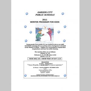 Winter Program for Kids 2010