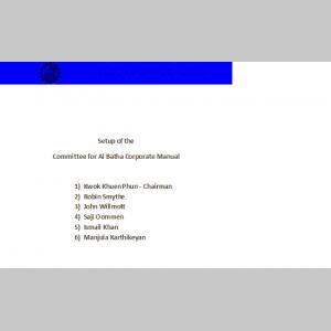 Al Batha Corporate Manual