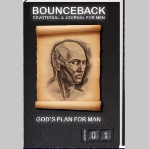 BounceBack Devotional and Journal for Men - God's Plan for Man