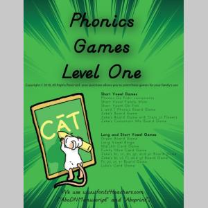 Phonics Games Level One