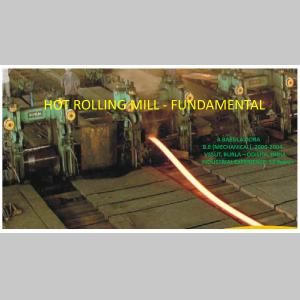 HOT ROLLING MILL - FUNDAMENTAL