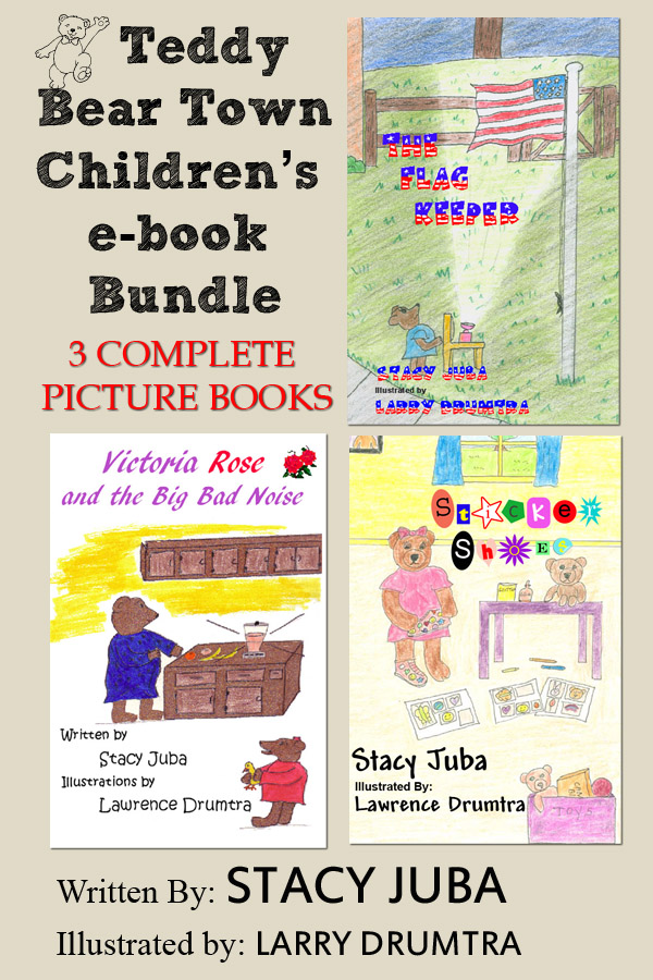 Teddy Bear Town Children's E-Book Bundle (Three Complete Picture Books)