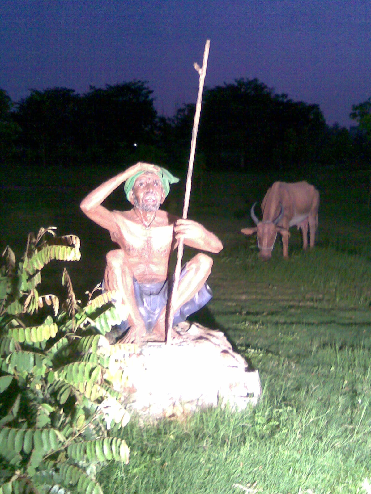 Waiting Tribal Boy