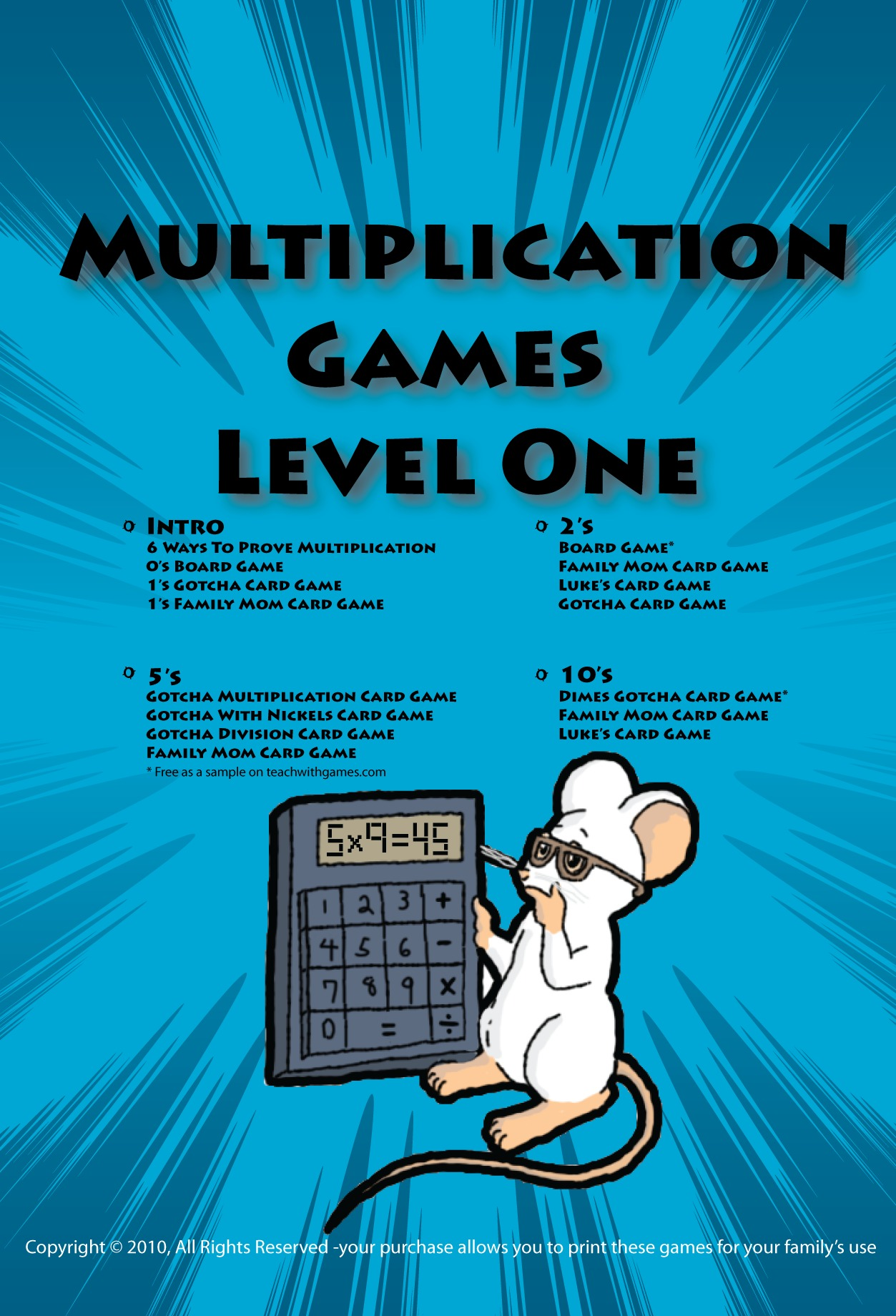 Multiplication Games Level One