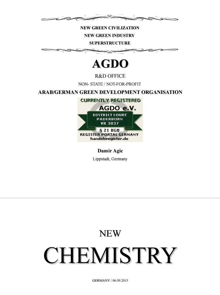 NEW CHEMISTRY (The Solution for a better World)